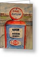 Sohio Gasoline Pump Greeting Card