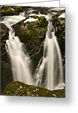 Sol Duc River Cascade Greeting Card
