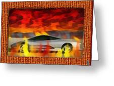 Solace Among Flames Greeting Card