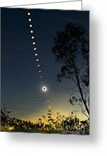Solar Eclipse Composite, Queensland Greeting Card
