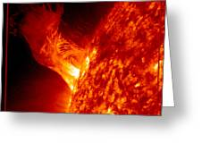 Solar Eruption Greeting Card