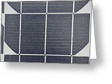 Solar Panel Collector Closeup View Greeting Card