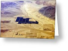 Solar Panels Aerial View Greeting Card