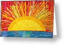 Solar Rhythms Greeting Card by Susan Rienzo