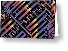 Solar Sagittarius Maze Greeting Card