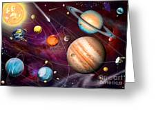 Solar System 2 Greeting Card
