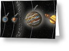 Solar System Orbits, Illustration Greeting Card