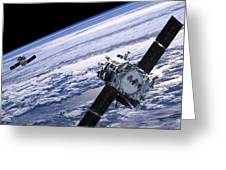 Solar Terrestrial Relations Observatory Satellites Greeting Card