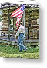 Soldier At Bedford Village Pa Greeting Card