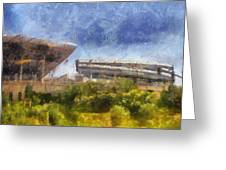 Soldier Field West Side Photo Art 02 Greeting Card