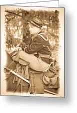 Soldier On Horse Greeting Card