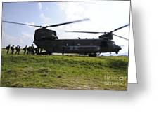 Soldiers Board A Republic Of Korea Air Greeting Card