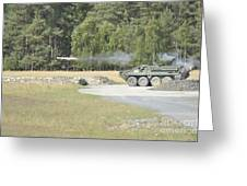 Soldiers Fire A Tow Missile Greeting Card