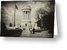 Soldiers Memorial - Ny - Toned Greeting Card
