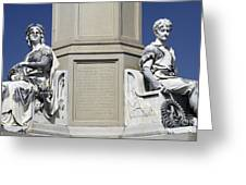 Soldiers Monument Detail Greeting Card