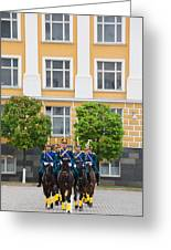 Soldiers Of The Presidential Regimental Greeting Card