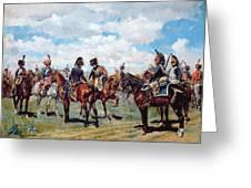 Soldiers On Horseback Greeting Card