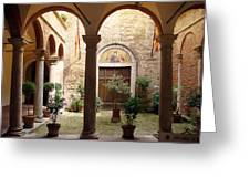 Solemn Tuscan Courtyard Greeting Card