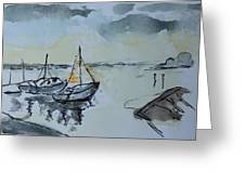 Solemn Wreck. Justin Greeting Card by Rosemary Colyer