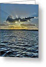 Solent Sun Rays Greeting Card