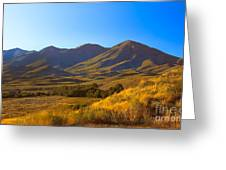 Solider Mountain Shadows Greeting Card
