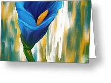Solitary Blue Greeting Card