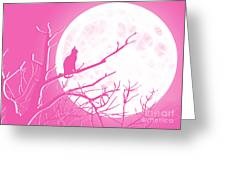 Solitary Pink Background Greeting Card