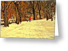 Solitude With A Friend Greeting Card