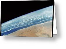 Somalia Seen From Space Shuttle Greeting Card