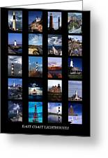 Some East Coast Lighthouses Greeting Card