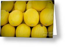 Some Fresh Melons On A Street Fair In Brazil Greeting Card by Ricardo Lisboa
