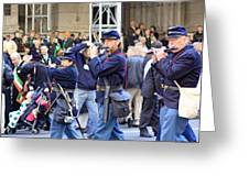 Some Revolutionary Flutiest Playing In The 2009 New York St. Patrick Day Parade Greeting Card