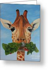 Someone Is Eating My Garden Greeting Card by Pam Fries