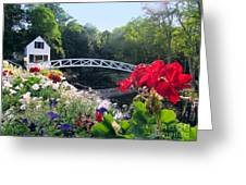 Somesville Bridge And Home Greeting Card