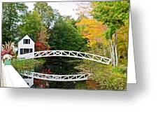 Somesville Bridge In Autumn Greeting Card by Lena Hatch