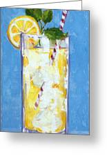 Something Cool To Drink Greeting Card by Kelley Smith