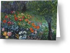 Somewhere A Garden Greeting Card by William Killen