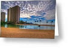 Somewhere In Honolulu Greeting Card