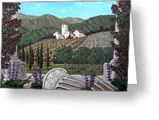 Somewhere In Tuscany Greeting Card