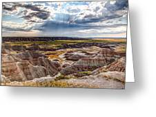 Son Over The Badlands Greeting Card