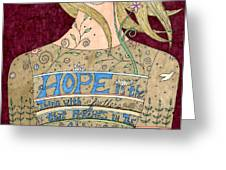 Song Of Hope Greeting Card