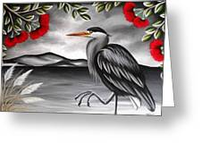 Song Of The Heron Greeting Card