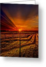 Song Of The Setting Sun Greeting Card