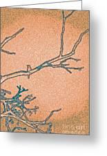 Songbird Peach Greeting Card