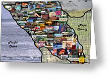 Sonoma County Collage Greeting Card