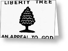 Sons Of Libery Symbol, 1776 Greeting Card