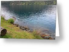 Soothing Lake Crescent Greeting Card