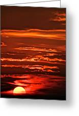 Soothing Saturday Sunset Greeting Card