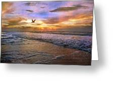 Soothing Sunrise Greeting Card by Betsy Knapp