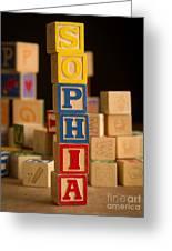 Sophia - Alphabet Blocks Greeting Card